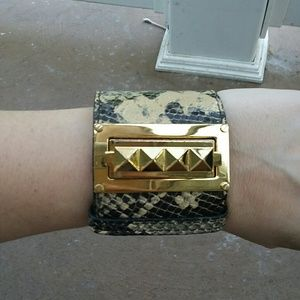 Tory Burch cuff snake print bracelet